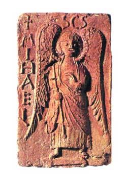 terracotta icons, Archangel Michael