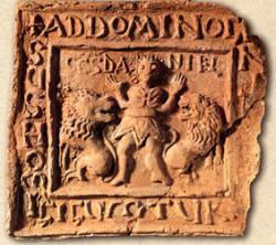 terracotta icons, Daniel & the Lions` Den