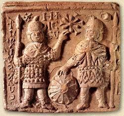 terracotta icons, Joshua & Kaleb